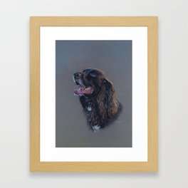 English Cocker Spaniel art print Framed Art Print