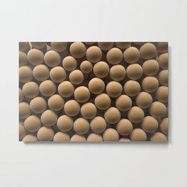 Brown spheres Metal Print