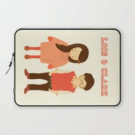 Lois and Clark - Superman The Younger Years - Comic Superhero Illustration Print Laptop Sleeve