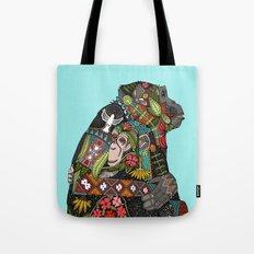 chimpanzee love sky Tote Bag