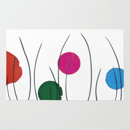 Red Green Pink Blue Drops Rug