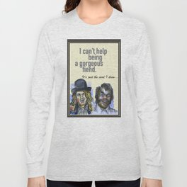 I can't help being a gorgeous fiend - Psych Quotes Long Sleeve T-shirt