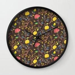 Korean Jogakbo (Patchwork) Print Wall Clock