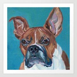 Walker the Boxer Dog Portrait Art Print