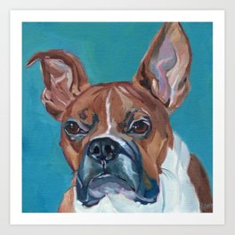 Walker the Boxer Dog Portrait Art Print
