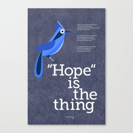 Hope is the Thing (Blue) Canvas Print