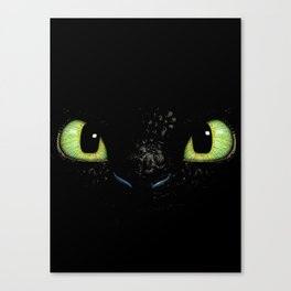 HTTYD Toothless Fiery Eyes Canvas Print