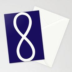 Infinity Symbol Navy Stationery Cards
