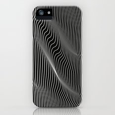 Minimal curves black iPhone (5, 5s) Slim Case