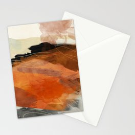 landscape in fall abstract art Stationery Cards