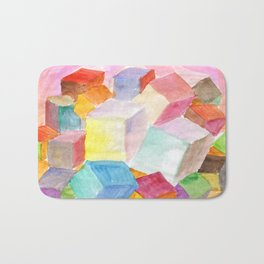 Abstract cubic world Bath Mat