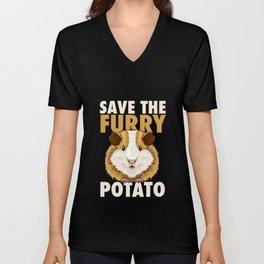 Furry Potato T-Shirt guinea pig lover gift Unisex V-Neck