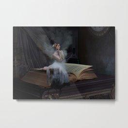 Le Cabinet de Curiosites - Sepia Morphine Metal Print