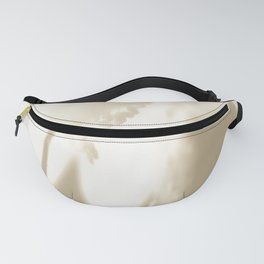 Wintery Day Dream White Flower On A Beige Background #decor #society6 Fanny Pack