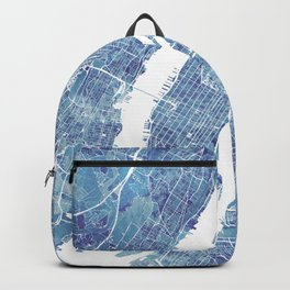 New York City Map United states watercolor Backpack