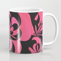 Abstract black and fuchsia Mug