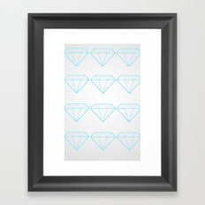 Diamonds Are A Girls Best Friend Framed Art Print
