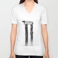 pi V-neck T-shirts featuring Pi Anyone? by Mark Alder