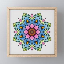Colourful Botanical Mandala Framed Mini Art Print