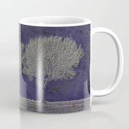 Three Fog Trees Blue #1 Coffee Mug