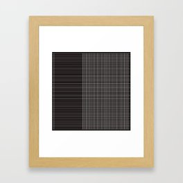 Back to School- Simple Grid Pattern - Black & White - Mix & Match with Simplicity of Life Framed Art Print