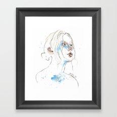 Winter 2016, watercolor Framed Art Print