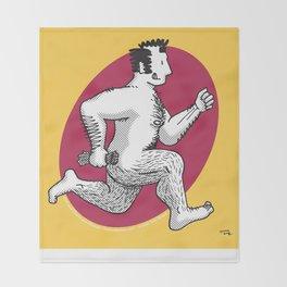 Finn running naked Throw Blanket