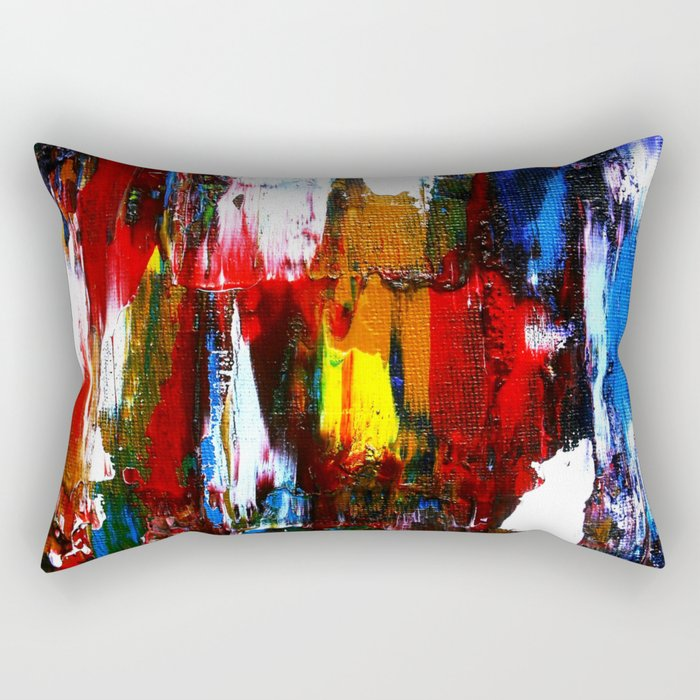 Coney Island (Part 2) acrylics on stretched canvas  Rectangular Pillow