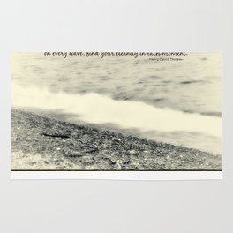Inspirational Vintage Beach Photography Rug