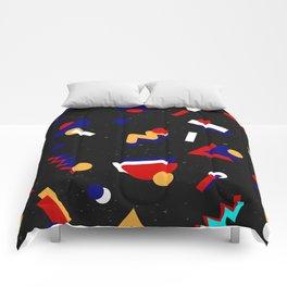 Memphis geometric pattern #2 Comforters