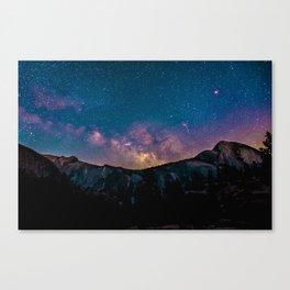 Galaxy Mountain Canvas Print