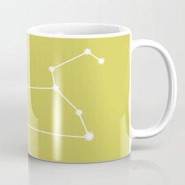 Leo Zodiac Constellation - Vibrant Green Coffee Mug