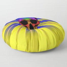 Pop art skull glow Floor Pillow
