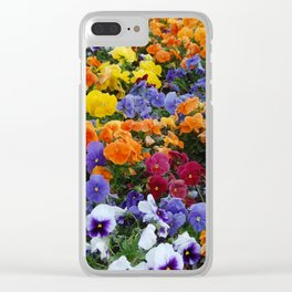 Pancy Flower 2 Clear iPhone Case