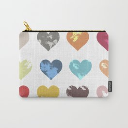 Colorful love pattern Carry-All Pouch
