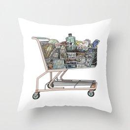 The Shopping Throw Pillow