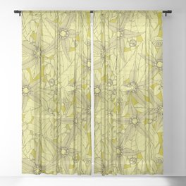 deadly nightshade chartreuse Sheer Curtain