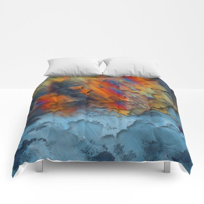 Diagonal Rainbow Redux Comforters