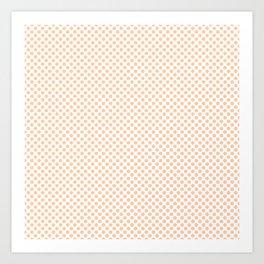 Creampuff Polka Dots Art Print