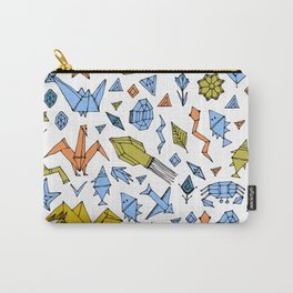 Marine animals and plants, Stylized origami Carry-All Pouch