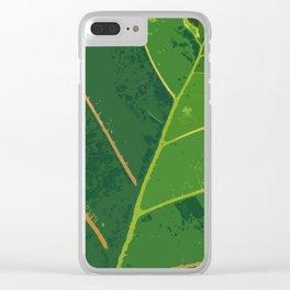 Green Green Leaf Clear iPhone Case