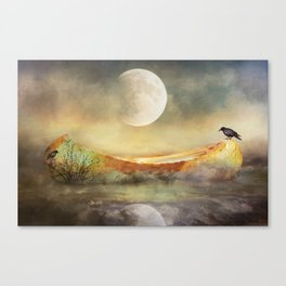 By the Light of the Crow Moon Canvas Print