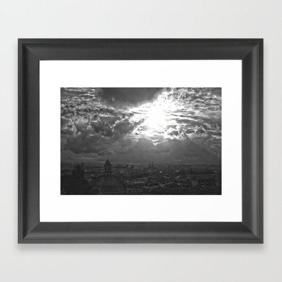 Black and White Roma Framed Art Print