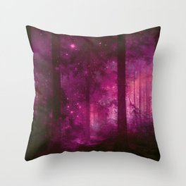 Into The Purpur Light Throw Pillow