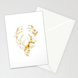 Mr Stag Orange Flowers Stationery Cards