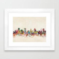 baltimore maryland Framed Art Print