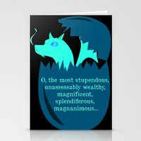 smaug Stationery Cards featuring O Smaug by Fairly Artful Artworks