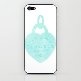 Tiffany heart locket charm iPhone Skin