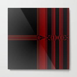 Vibrant Red Pattern Design Metal Print