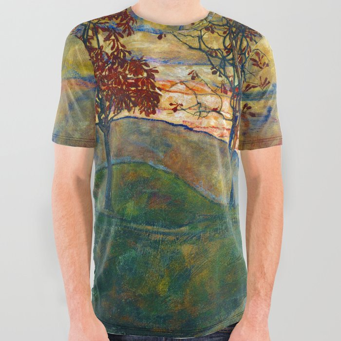 Four_Trees__Egon_Schiele_All_Over_Graphic_Tee_by_Elegant_Chaos_Gallery__Small